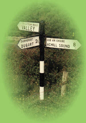 Achill Sound Sign Post